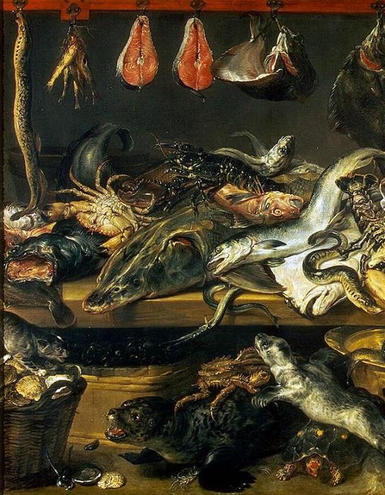 «Рыбная лавка». Фрагмент.