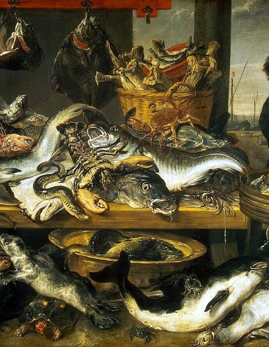 «Рыбная лавка. Фрагмент».