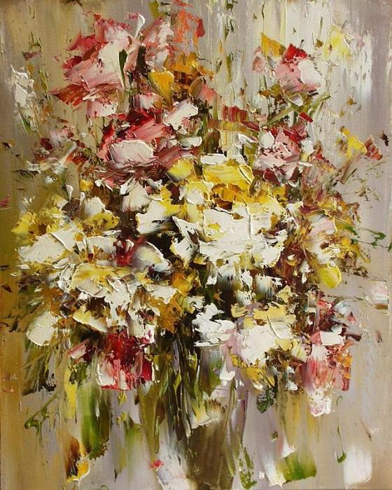 Цветочные натюрморты от Юрия Хованского.