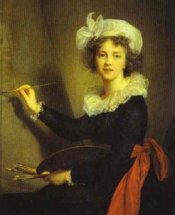 Автопортрет 1790 год. Автор: Элизабет Виже-Лебрен.