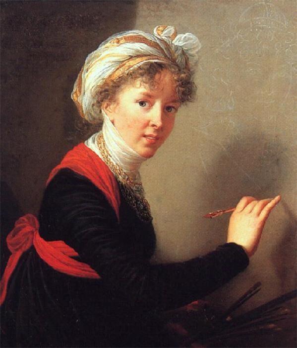 Автопортрет. 1800 год. Автор: Элизабет Виже-Лебрен.