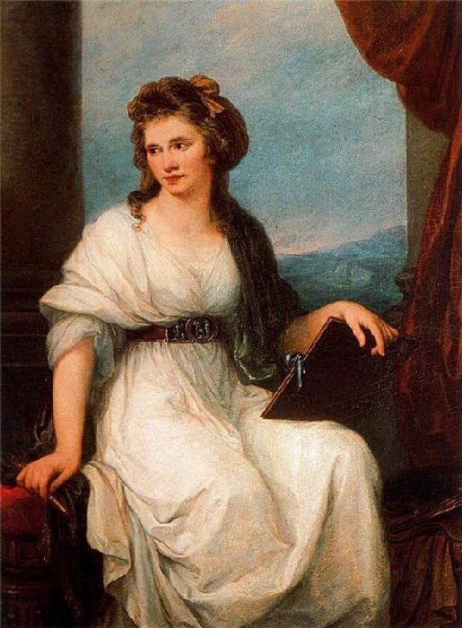 Ангелика Кауфманн - Автопортрет 1787 г. Галерея Уфиццы.