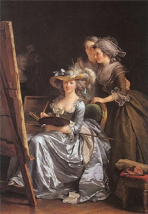 Автопортрет с двумя моделями. (1785г.) Автор: Аделаида Лабиль-Жиар.