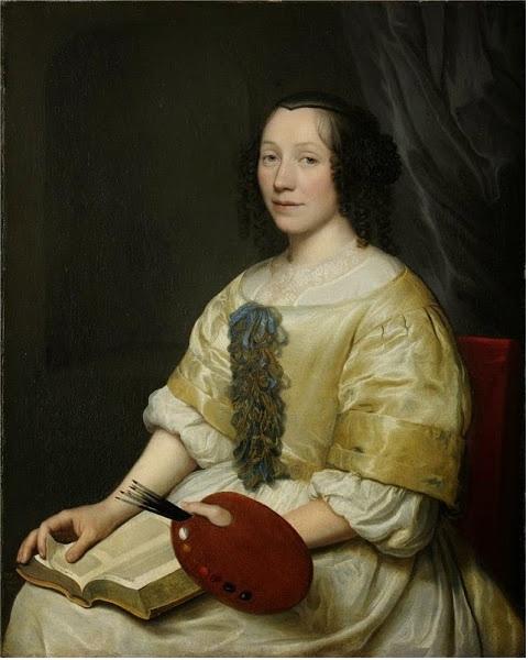 Автопортрет.  (1671). Автор: Мария ван Остервейк.