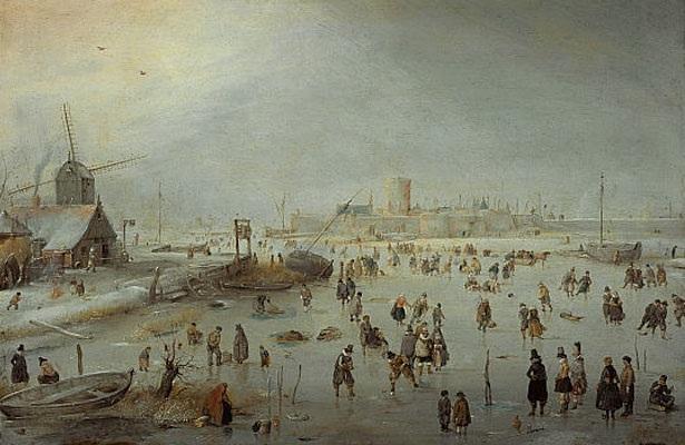 На льду за городом, 1630-е