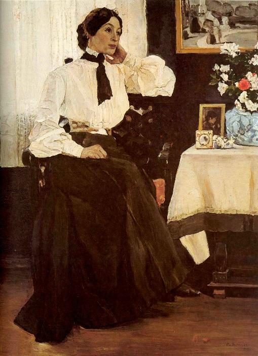 Портрет жены, Е.П. Нестеровой. Автор: Михаил Нестеров.
