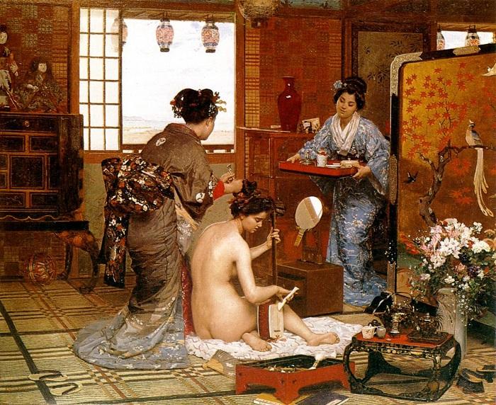 «Японский туалет». (1875 год). Автор: Фирмен-Жирар.