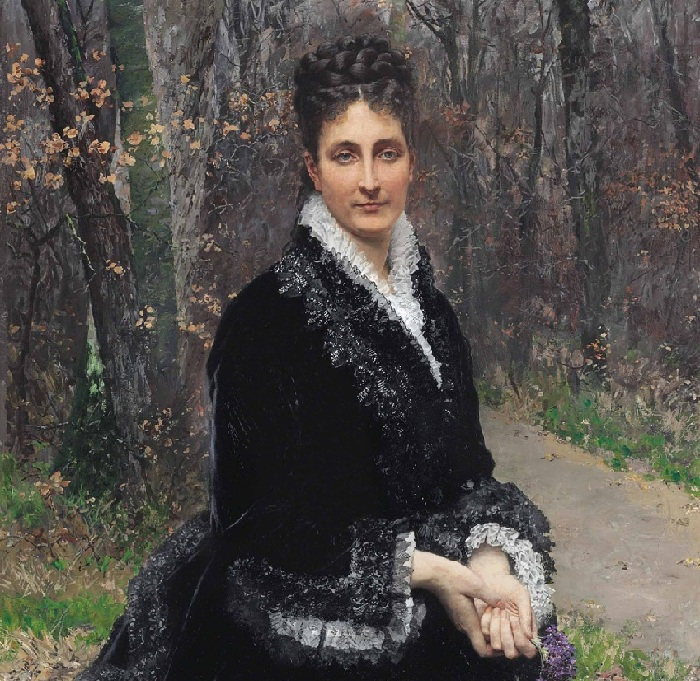 «Баронесса Маргерит Берну де Роштелле де Дампьер». (1875 год). Автор: Фирмен-Жирар.