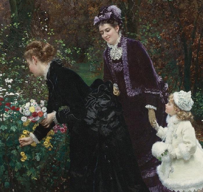 «В саду». (1875 год). Автор: Фирмен-Жирар.
