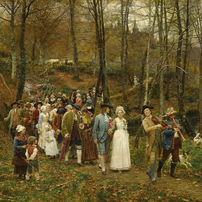 «Свадебная процессия». (1879 год). Автор: Фирмен-Жирар.