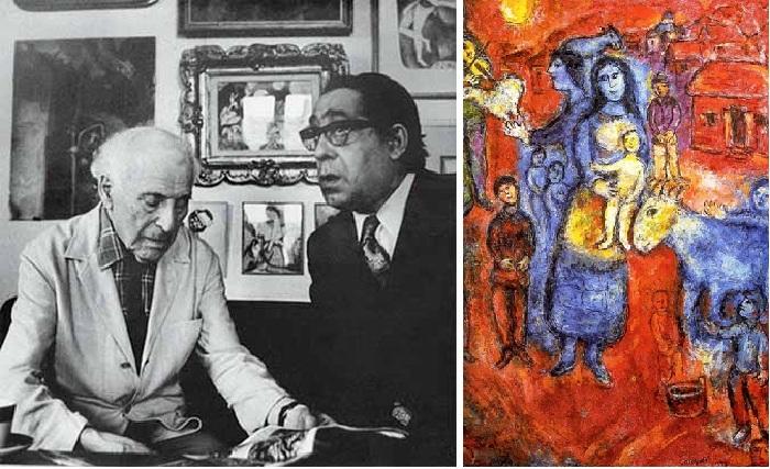 Костаки и Марк Шагал.