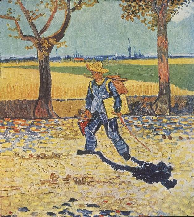 Художник на пути в Тараскон. (1888 год). Автор: Ван Гог.