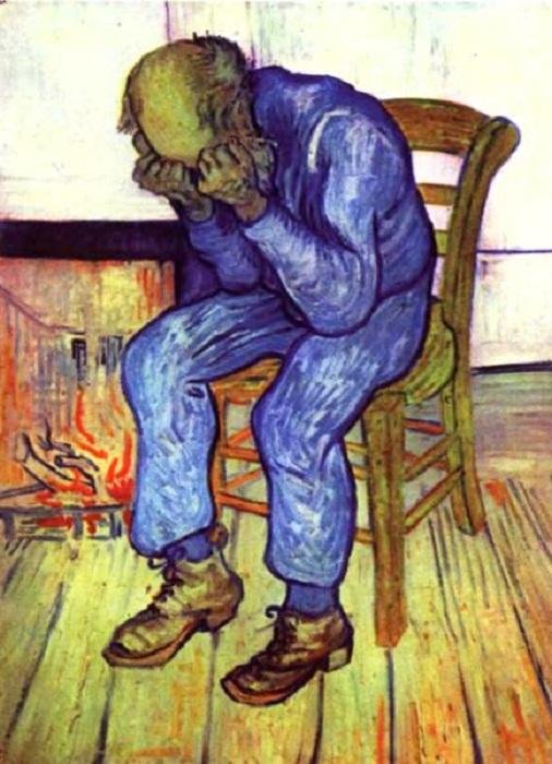 На пороге вечности. 1890 г. Автор: Ван Гог.