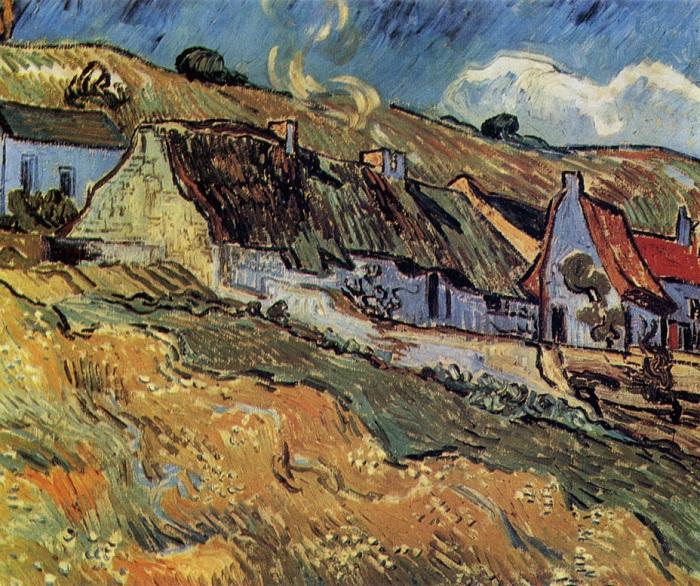 Хижины. Июнь 1890. Автор: Ван Гог.