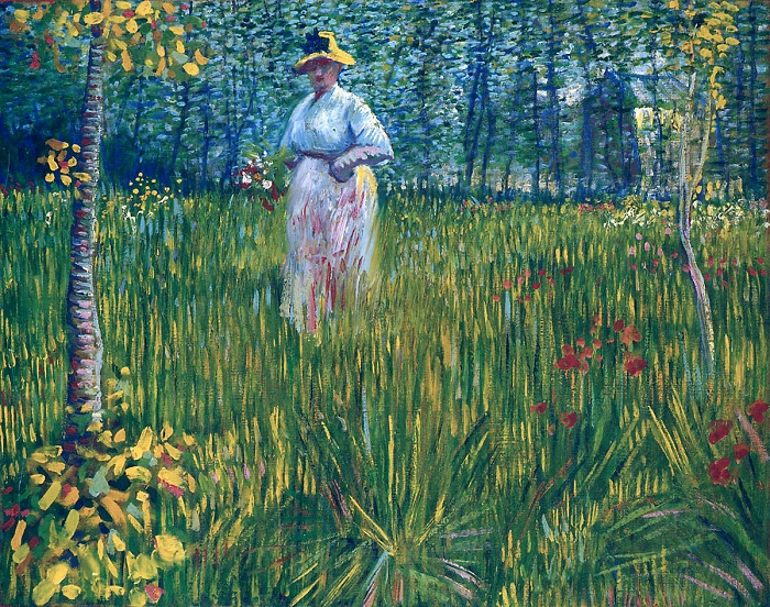 «Женщина в саду». Автор: Ван Гог.