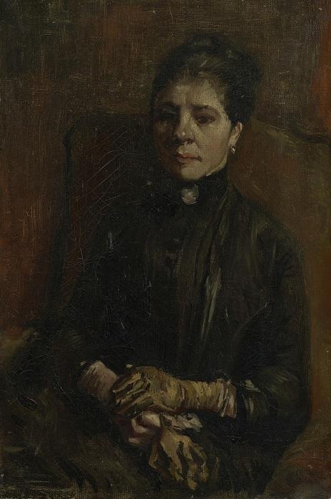 Портрет сидящей женщины. (1886). Автор: Ван Гог.