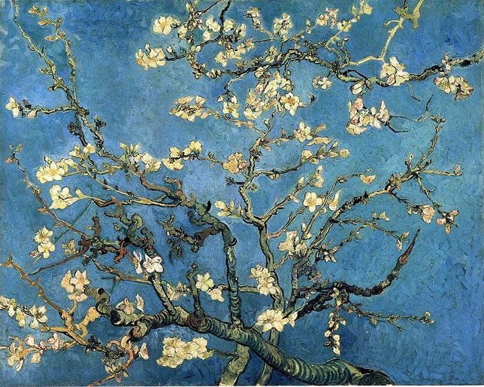 Миндальная ветка в цвету. Автор: Ван Гог.