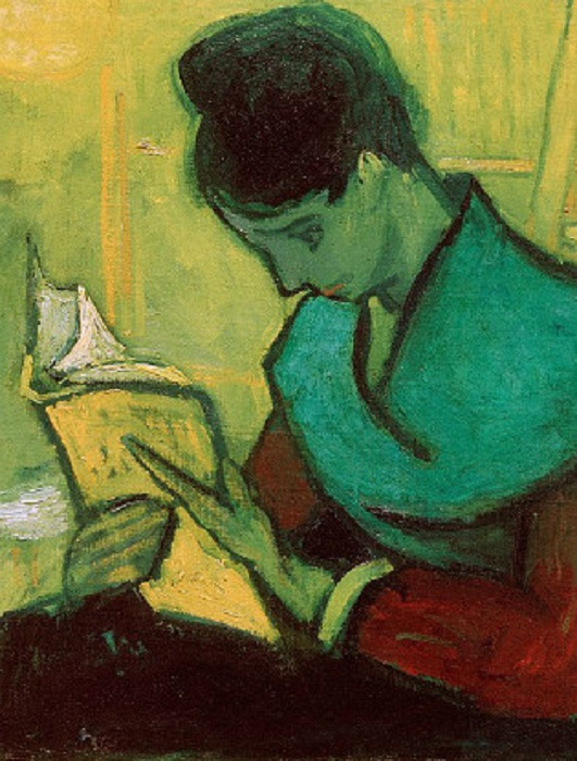 Девушка, читающая книгу. Автор: Ван Гог.