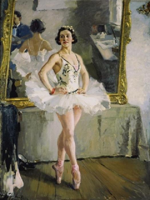 Портрет балерины О.В.Лепешинской. (1939). Автор: А.М.Герасимов.