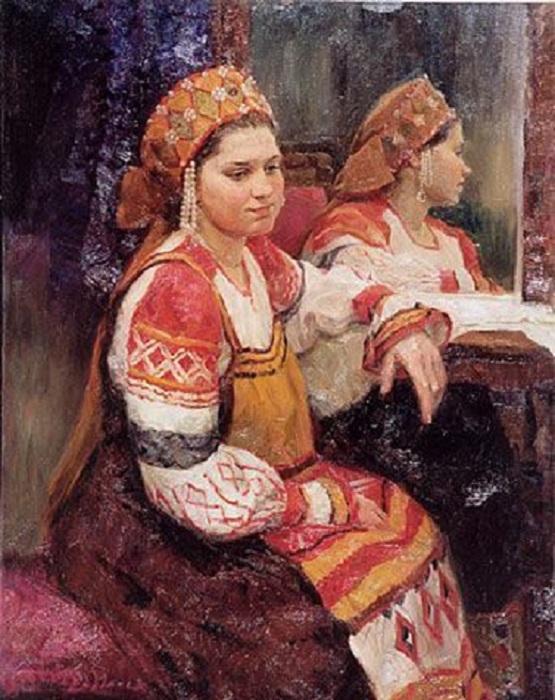 Портрет у зеркала. Автор: Косничев Александр.