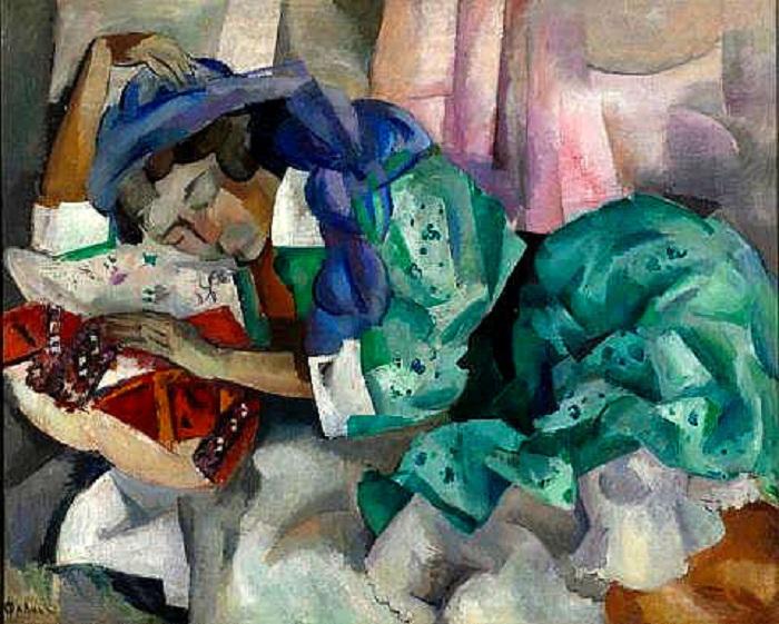 «Спящая цыганка». (1909-12 г.) Автор: Роберт Рафаилович Фальк.