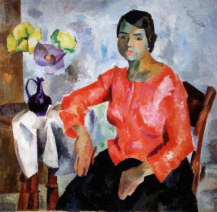 «Женский портрет». (1917г.). Автор: Роберт Рафаилович Фальк.