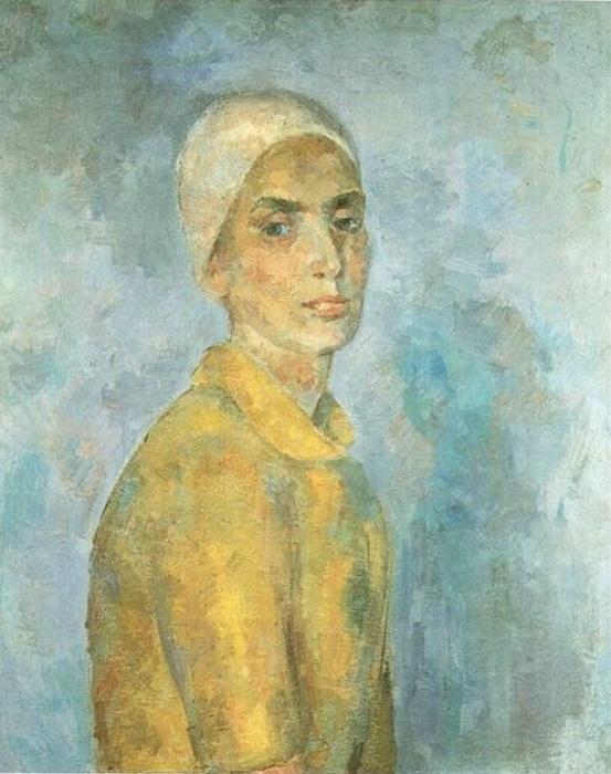 Женщина в желтой блузке. (1944 г.). Автор: Роберт Рафаилович Фальк.