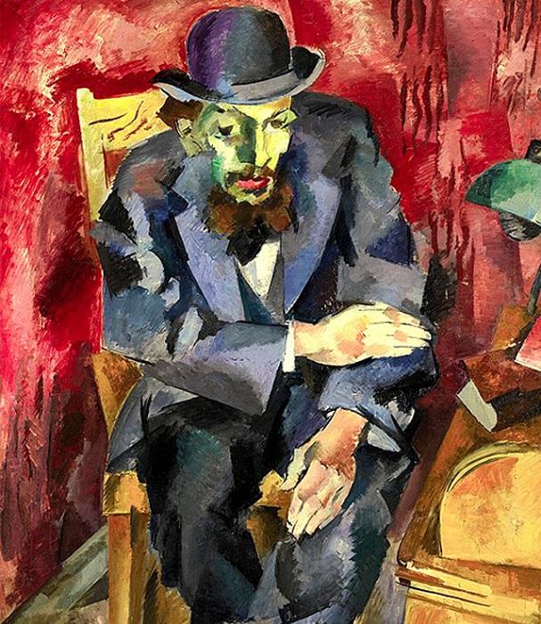 Человек в котелке. (Портрет Якова Каган-Шабшая). (1917г.). Автор: Роберт Рафаилович Фальк.