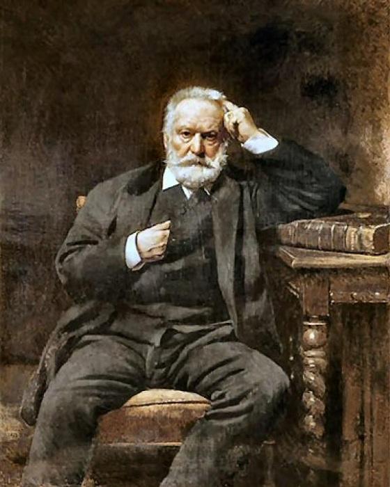 Портрет Виктора Гюго.