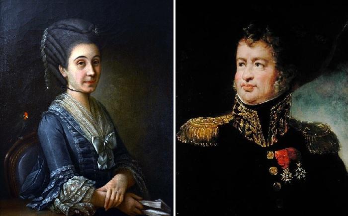 Софи Требуше - мать писателя. / Леопольд Гюго - отец писателя.