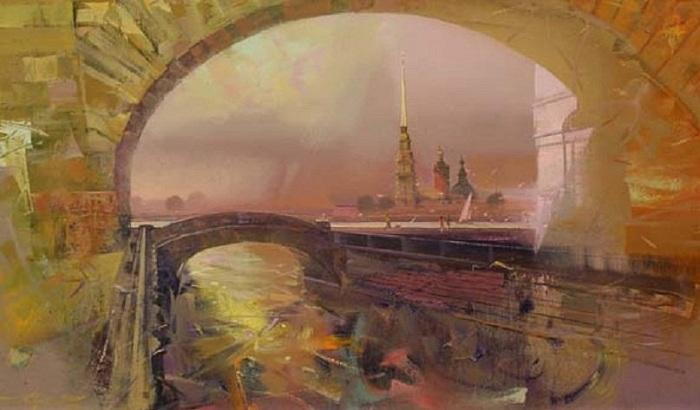 Эрмитажный мост. Автор: Сергей Сиделев.