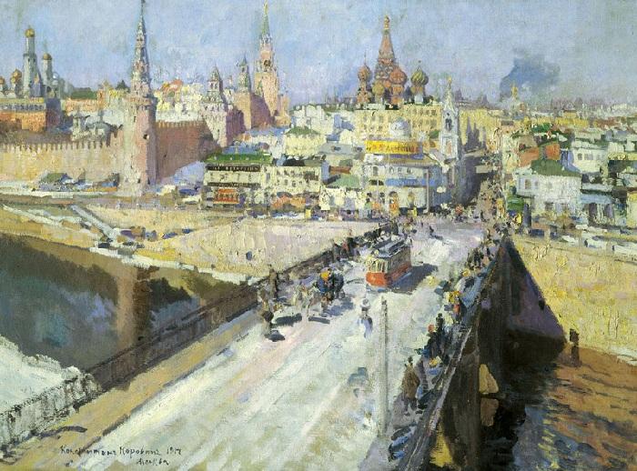 Москворецкий мост. Автор: К.А. Коровин.