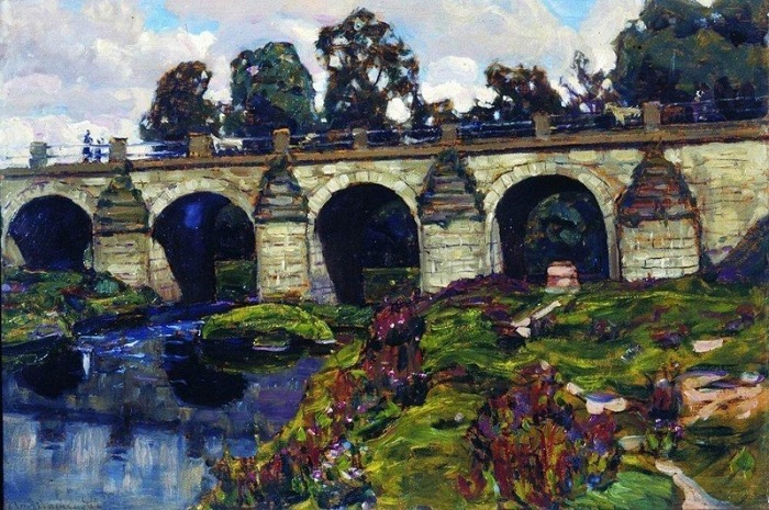 Дворцовый мост XVIII века через реку Яузу. Лефортово. 1920-е.