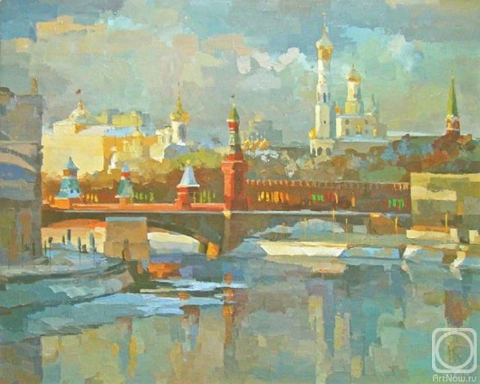 Москва. Вид на Кремль с Устьинского моста. Автор: Чижова Виктория.
