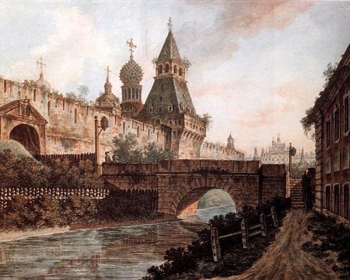 Москва 1800 года на картинах Федора Алексеева.