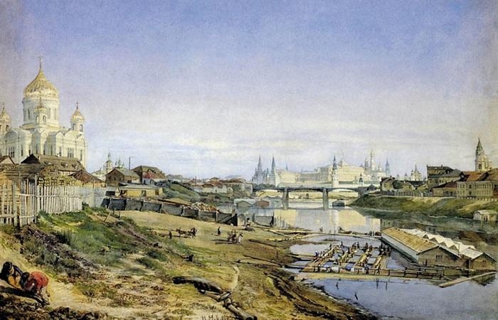 Большой Каменный мост в XIX веке.