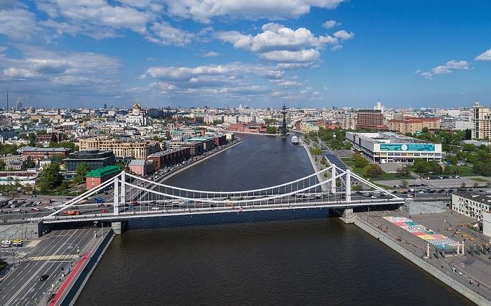Современный Крымский мост. Фото.