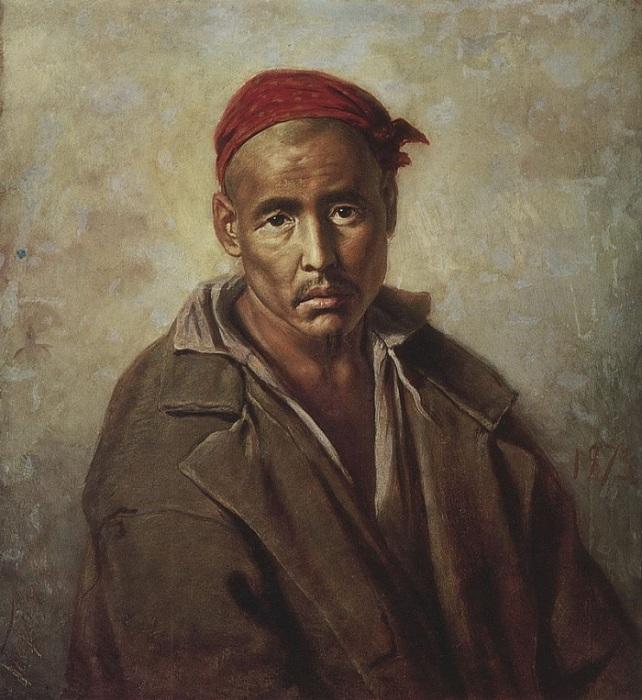 Голова киргиза-каторжника. (1873). Государственный Русский музей. Автор: В.Перов.
