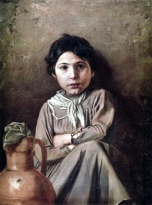 Девушка с кувшином. (1869). Государственный Русский музей. Автор: В.Перов.