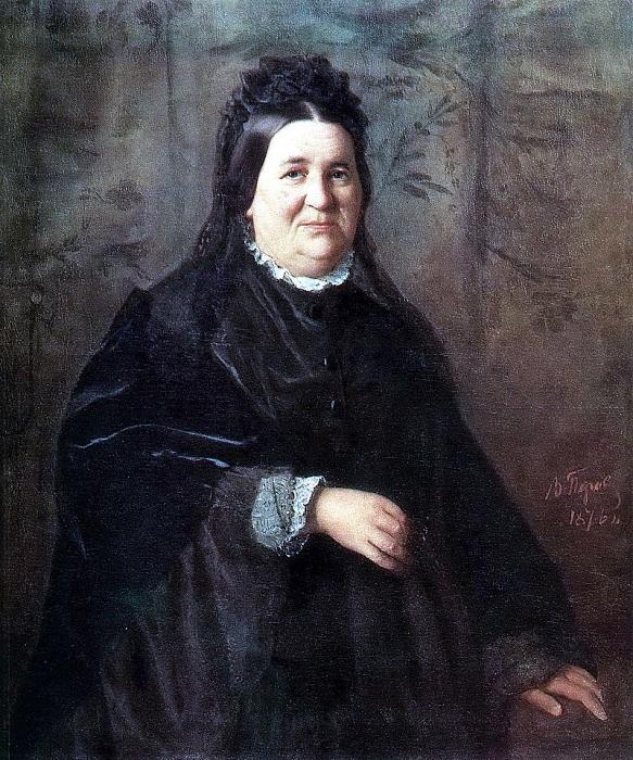 Портрет А. И. Криденер, матери художника (1876). Автор: В.Перов.