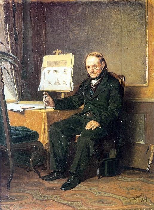 Учитель рисования. (1867). Автор: В.Перов.