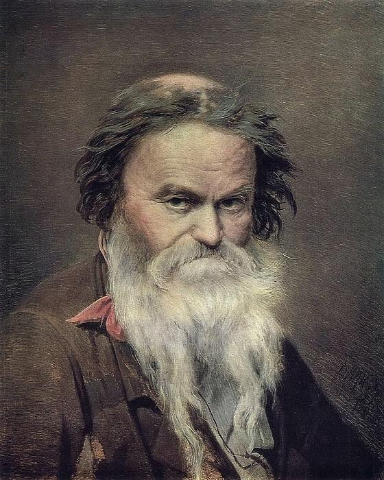 Фомушка-сыч. (1868). Государственная Третьяковская галерея. Автор: В.Перов.