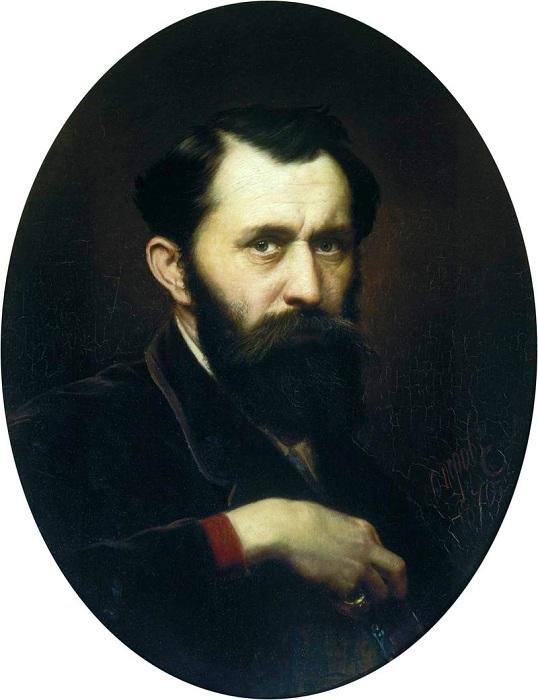 Автопортрет. (1870). Третьяковская галерея.