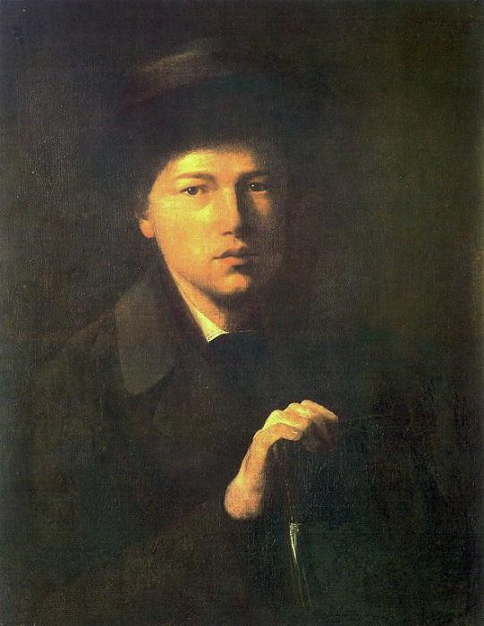 Н. Г. Криденер - брат художника. (1856). Автор: В.Перов.