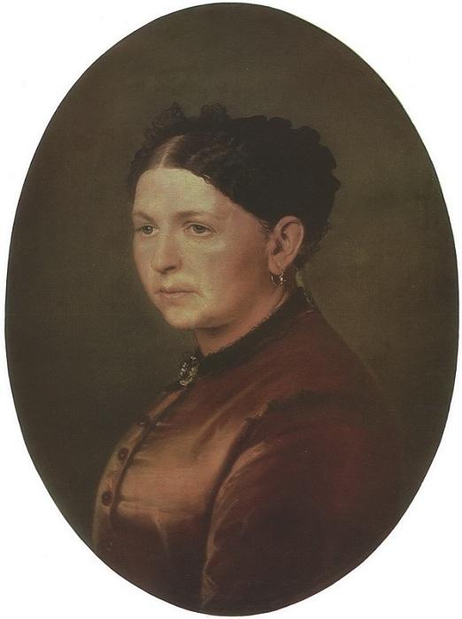 Портрет Ф. И. Резановой. (1869). Челябинская картинная галерея. Автор: В.Перов.