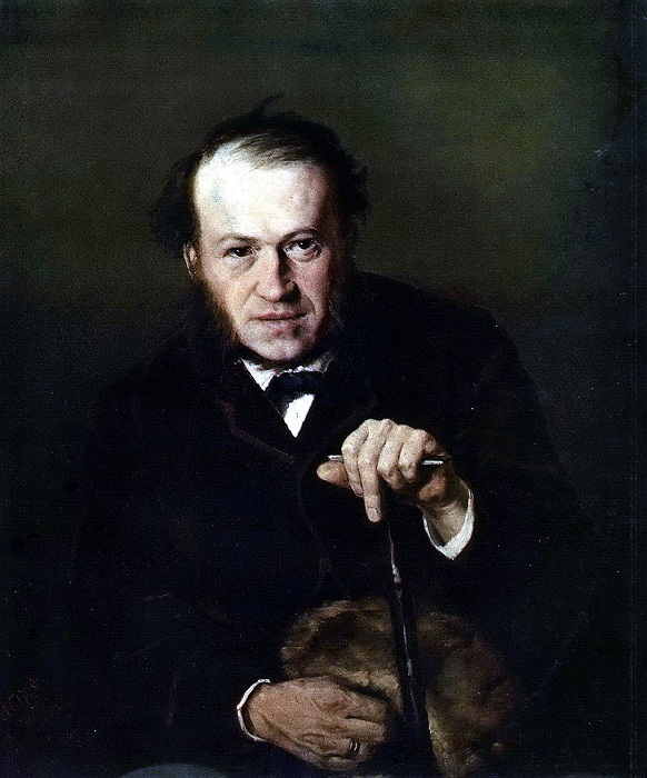 Портрет В. В. Безсонова. (1869). Третьяковская галерея. Автор: В.Перов.