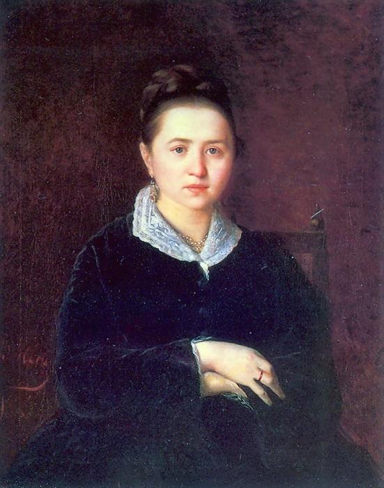 Портрет А. И. Сергеевой. (1875). Автор: В.Перов.
