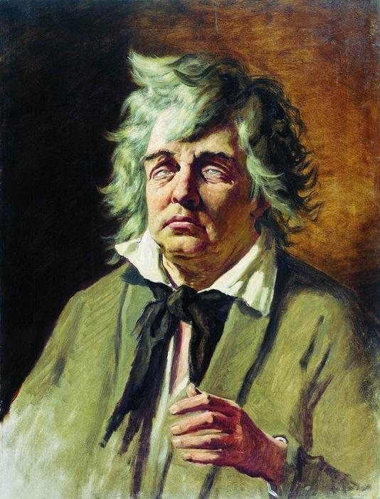 Голова слепого. (1878). Рязанский художественный музей. Автор: В.Перов.