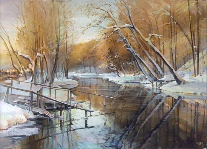 Голубое озеро. Автор: Роман Романов.