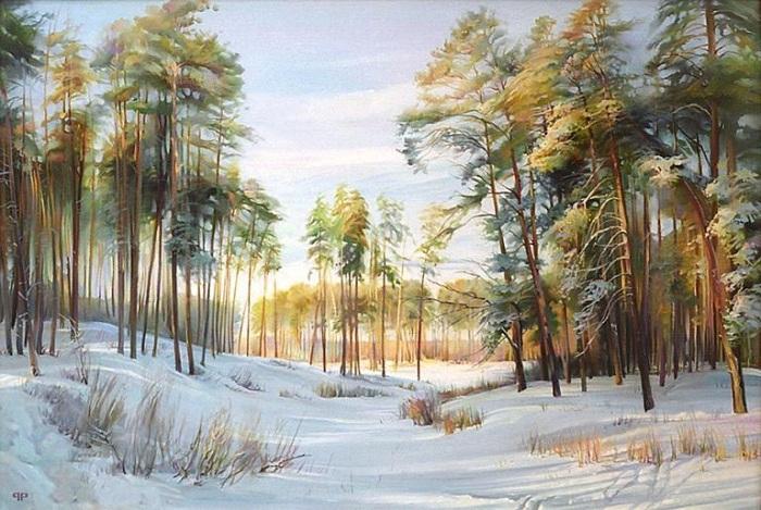 Зима. Лебяжье. Автор: Роман Романов.